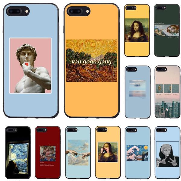 Funny Mona Lisa Van Gogh Art Soft Black Back Phone Cover for Iphone 5s 5 Se Iphone 8 8plus IPhone X Iphone 6/6S Plus 7/7 Plus Phone Cases   Wish