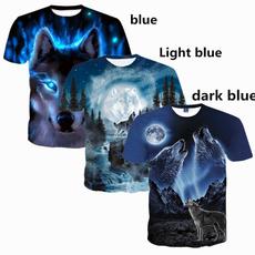 menwolftshirt, Short Sleeve T-Shirt, Shirt, Sleeve