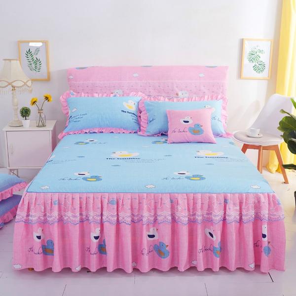 Blues, Summer, Lace, bedspread