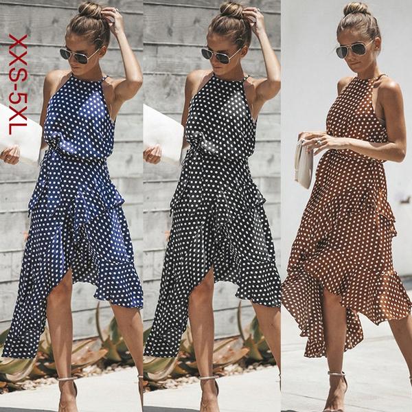 Summer, Plus Size, women dresses, polka dot