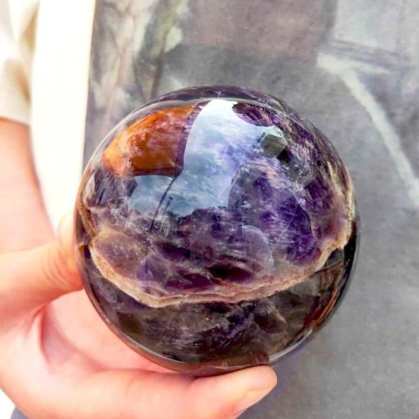 Decor, quartz, sphere, dreamamethyst