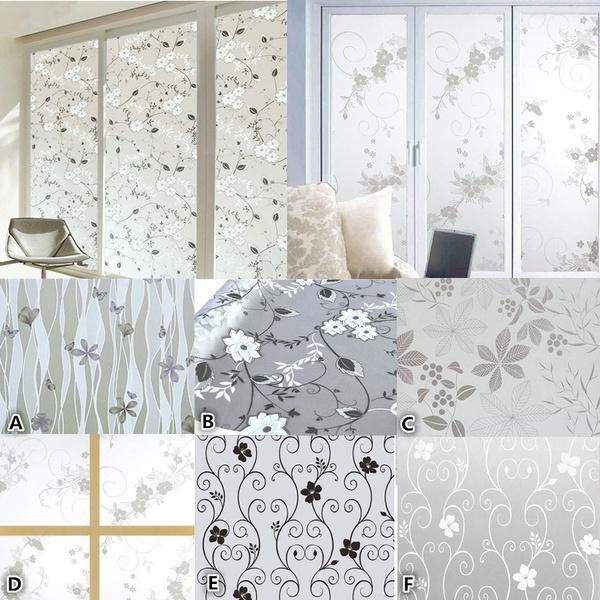 Home & Kitchen, Bathroom, Flowers, windowsticker