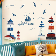 town, Blues, Home & Living, Wall Decal