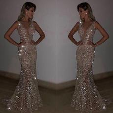 Fashion, Necks, Evening Dress, Dress