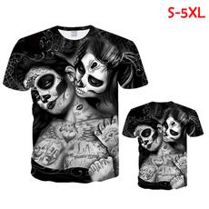 Summer, topsamptshirt, Shirt, skull