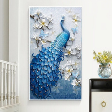 crossstitch, peacock, Decor, DIAMOND