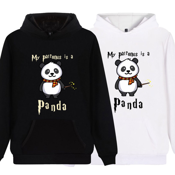 cute, panda hoodie, hooded, printed