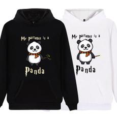 cute, panda hoodie, hooded, printed