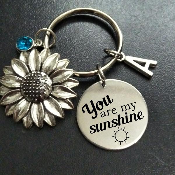 Antique, affirmationkeyring, sunshine, Key Chain