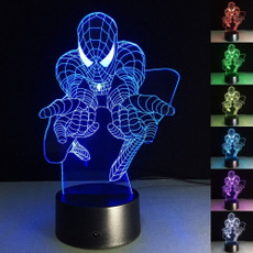 led, colorfullight, Spiderman, lights