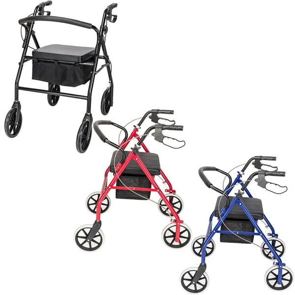 walkeradultsseat, Aluminum, mobilityaid, rollator