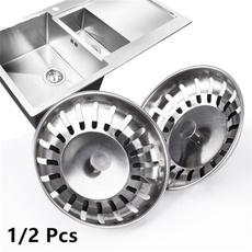Steel, sinkplug, Kitchen & Dining, filterbasket
