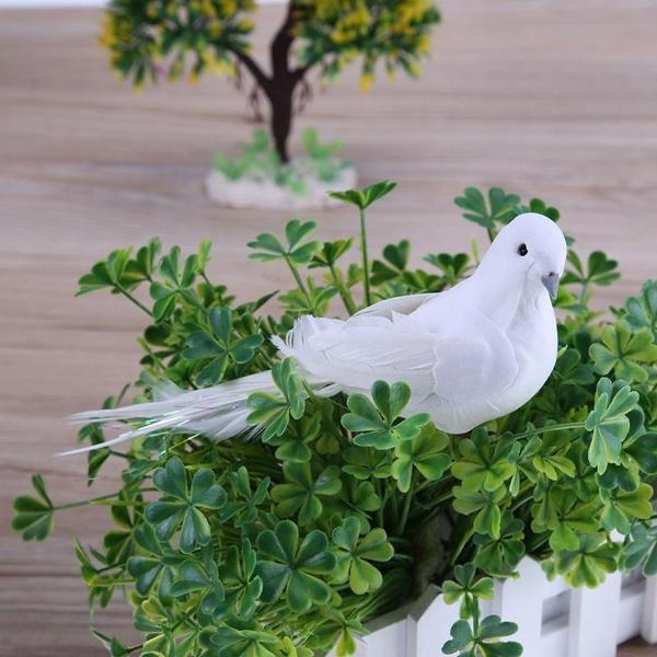 Mini, decorativebird, whitebird, Ornament