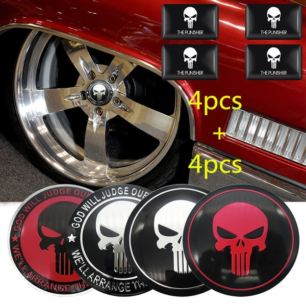 Wheels, Car Sticker, punisher, carwheelsticker