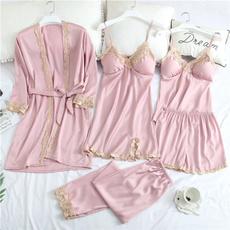 pyjamafemme, womenlingerieset, pjsetwithrobe, femmenightgown