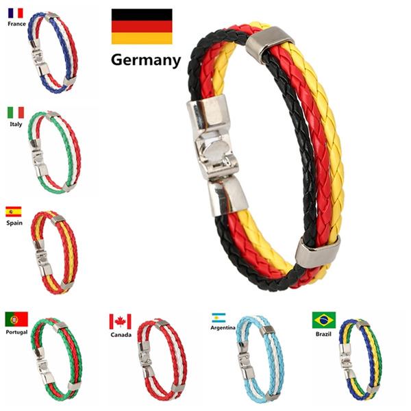 wristbandbracelet, Fashion, nationalflag, Jewelry