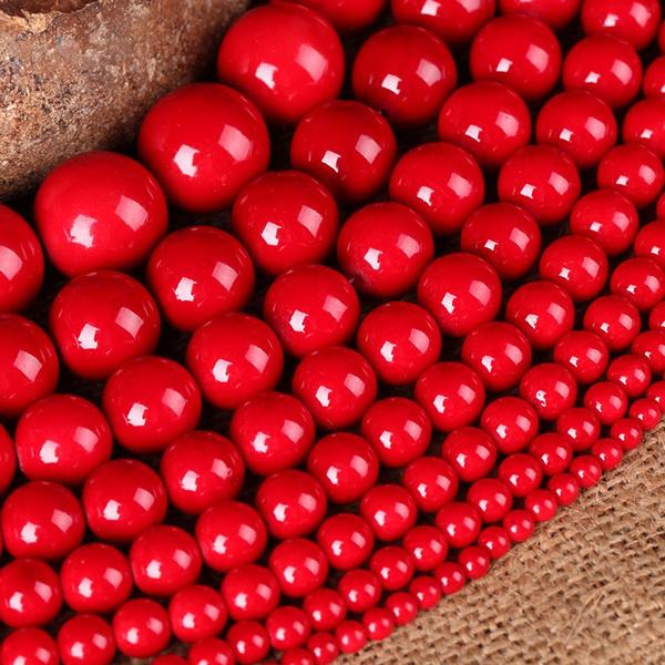8MM, redcoralbead, Jewelry, Handmade Jewelry