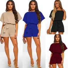Mini, Shorts, Lace, Sleeve