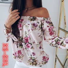 off the shoulder dress, blouse, Plus Size, Floral print