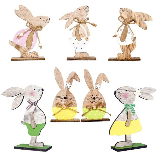 easterdecoration, Wood, rabbit, Gifts