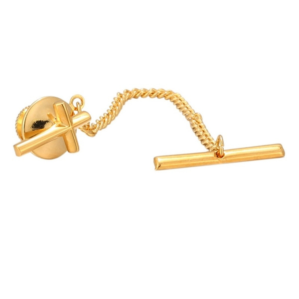Jewelry, Tie Tack, gold, Clutch