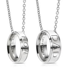 Steel, giftfordad, ring necklace, Fashion