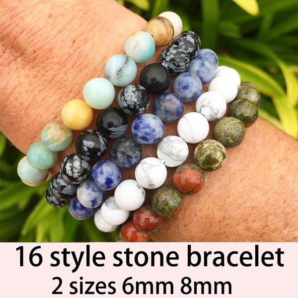 8MM, turquoisebracelet, Elastic, unisex