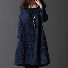 Plus Size, Cotton, Sleeve, Long Sleeve