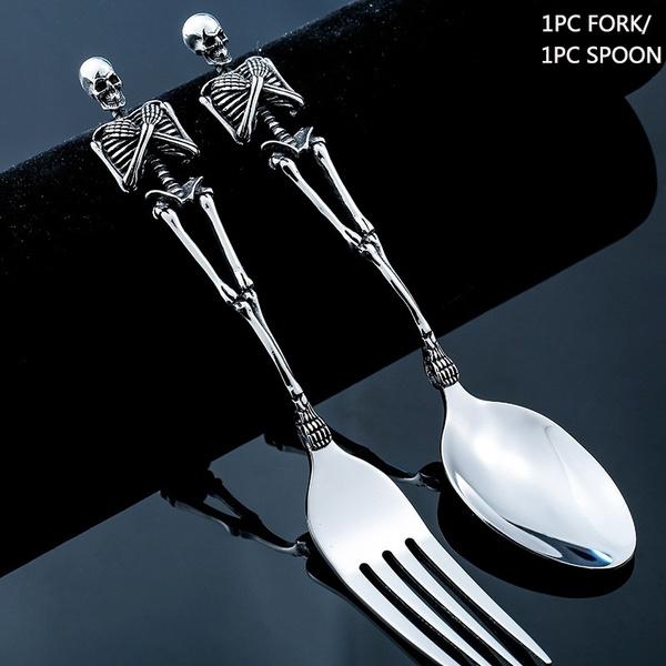 Steel, Kitchen & Dining, skulltableware, Home Decor