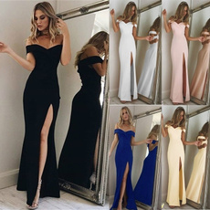 slim dress, fashion women, Deep V-neck Dress, Summer