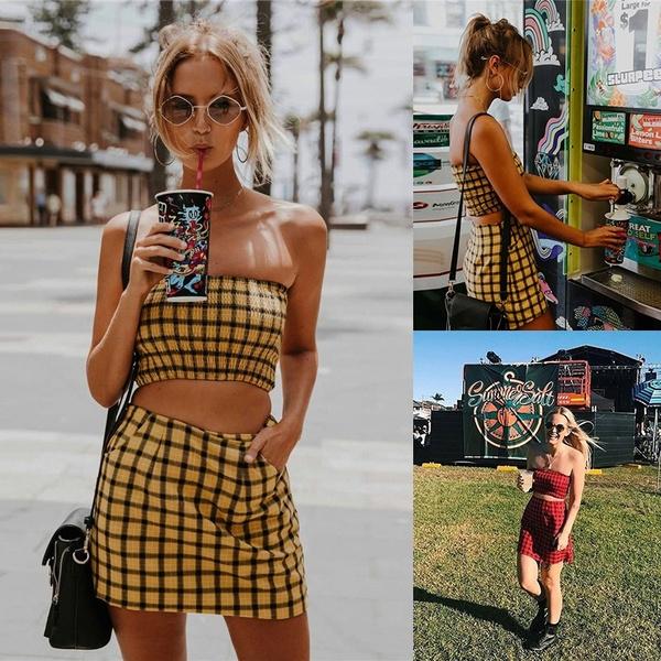 Mini, strapless, Fashion, crop top