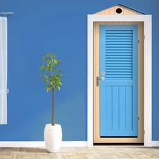 Blues, decoration, doormural, art