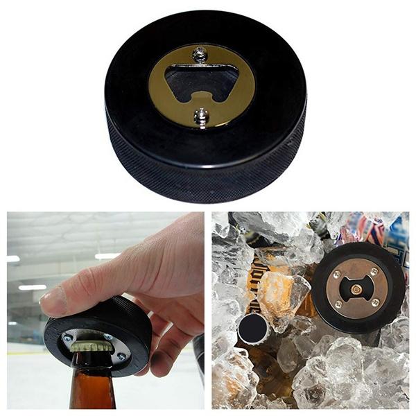 hockeypuckbottleopener, multifunctionalbeerbottleopener, Hockey, Bottle