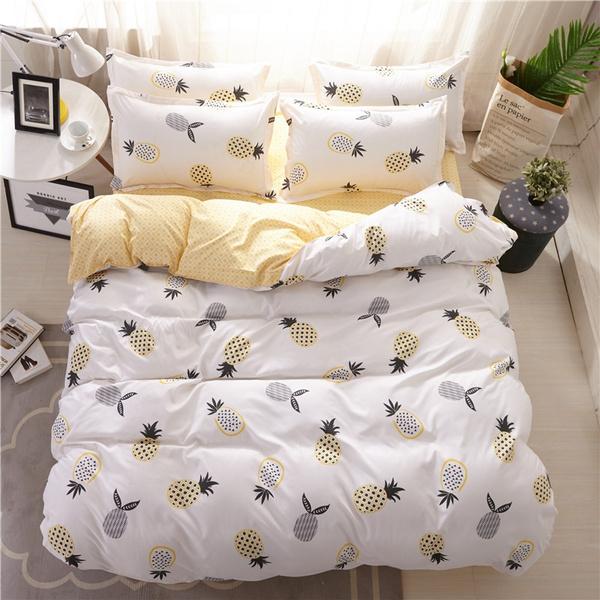 Cotton Bed Sheets Duvet Cover, King Size Bedding Set