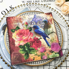 decoupage, tablemat, Flowers, Craft