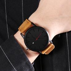 Fashion, leather, military watch, Watch