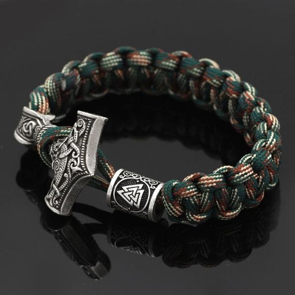 viking, amuletbracelet, Jewelry, vikingbraceletwithaxe