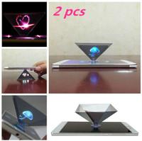 eamqrkt 3D Holograma Pir/ámide visualizaci/ón Proyector Video Stand Portable para Smart tel/éfono m/óvil