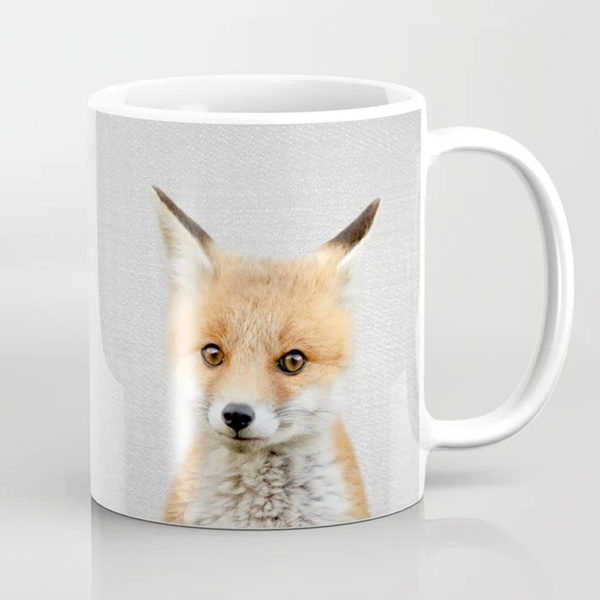 Fox Coffee Mug Fox Mug Cute Fox Mug Fox Mug For Friends Gift For Friend Cute Mug Wish