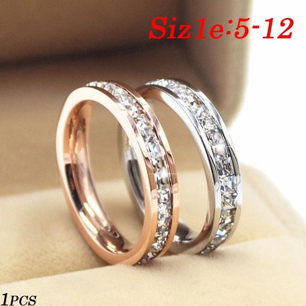 Steel, wedding ring, gold, Diamond Ring