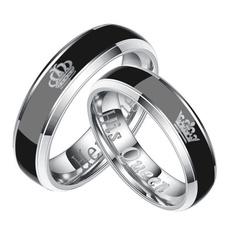Steel, Couple Rings, Fashion, Jewelry