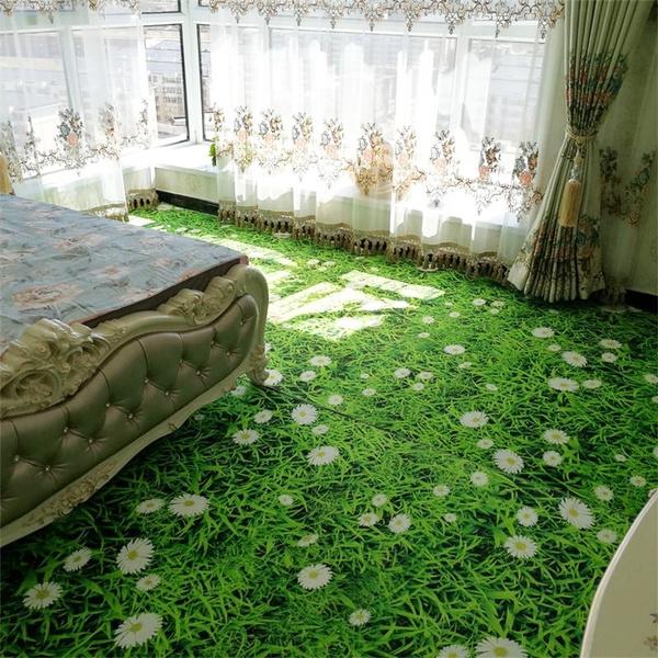 3d Printed Green Flower Road Large Carpet Rug Living Room Bedroom Big Area Rug Mat Anti Slip Creative Home Decor Wish
