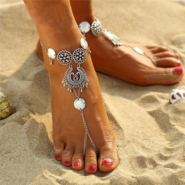 Summer, Flowers, Anklets, decoration