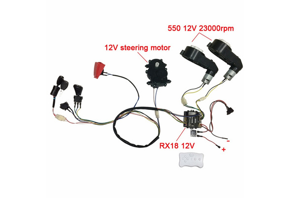 Children Electric Car Diy Modified Wires And Switch Kit With 2 4g Bluetooth Remote Control Self Made Baby Electric Car 12v Wish