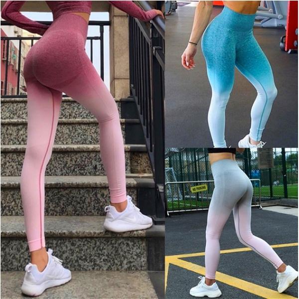 gradientcolor, Leggings, slim, Yoga