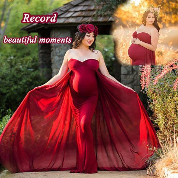 Newest Flowy Chiffon Maternity Dress Pregnant Women Chiffon Maxi Dress Maternity Gown Photography Photo Props Dresses Wish