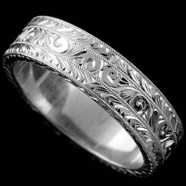 Antique, Love, wedding ring, 925 silver rings