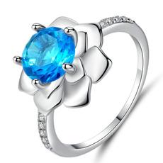Blues, Copper, Flowers, Jewelry