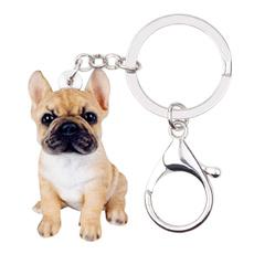 bulldogjewelry, keychainsforwomen, FRENCH, bulldogkeychain