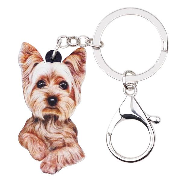 yorkshireterrierdoggift, Keys, keychainsbrown, Jewelry